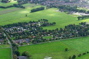Caravanpark de Hofstee Nunspeet luchtfoto