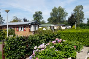 Caravanpark de Hofstee Nunspeet chalet tuin